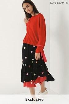 Next/Mix Polka Dot Ruffle Skirt