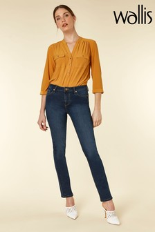 Wallis Blue Straight Leg Jean