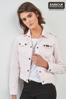 Barbour® International Pink Durness Denim Jacket