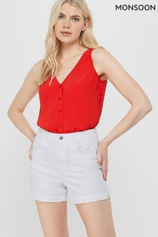 Monsoon Ladies Red Kerry Button Cami