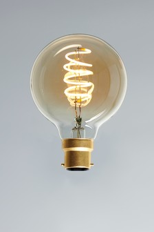5W LED BC Retro Spiral Globe Bulb
