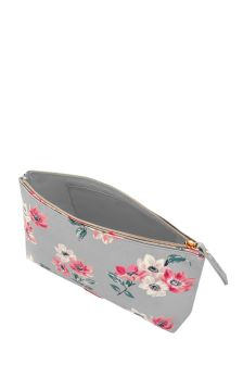Cath Kidston® Grey Small Anemone Bouquet Matt Cosmetic Bag