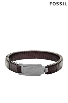 Fossil™ Mens Leather Bracelet