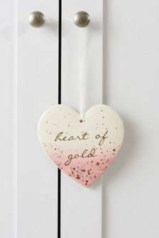'Heart of Gold' Heart Decoration
