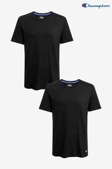 Zestaw dwóch gładkich koszulek Champion