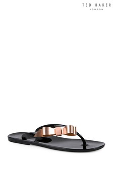 0bb0bdce5 Ted Baker Black Suszie Bow Jelly Flip Flop