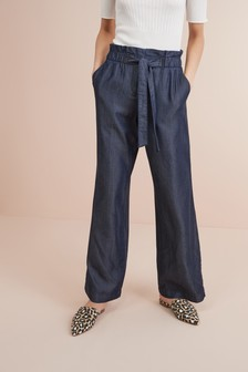 Tencel® Wide Leg Trousers