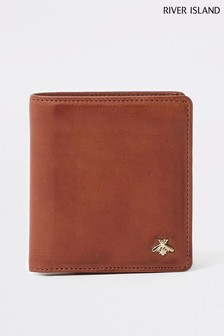 River Island Tan Three Fold Wallet