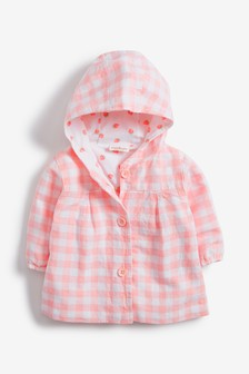 Clothes, Shoes & Accessories M&s Girls' Clothing (0-24 Months) Baby Girls Coat With Mittens 6-9 Months