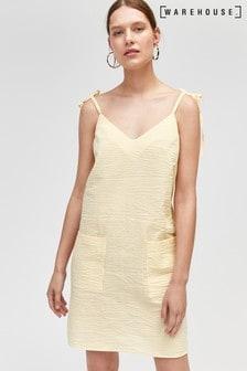 Warehouse Yellow Seersucker Cami Dress