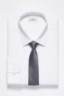 Рубашка классического кроя с прямыми манжетами и галстук (комплект)