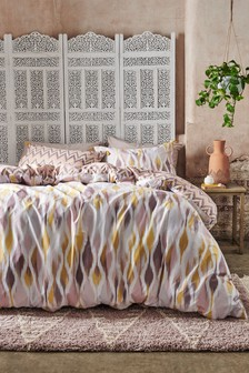 Bright Ikat Duvet Cover and Pillowcase Set