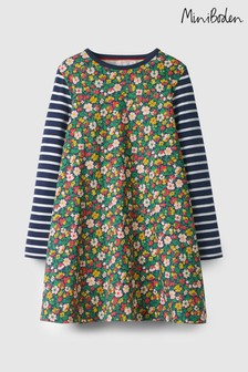 Boden Green Jersey Swing Dress