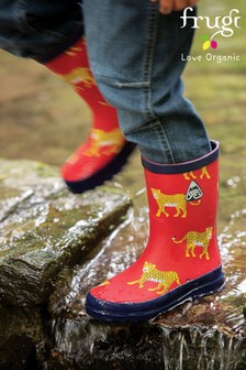 Frugi Red Leopard Wellie Boots