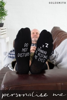 Personalised Grandad Resting Eyes Socks by Solesmith