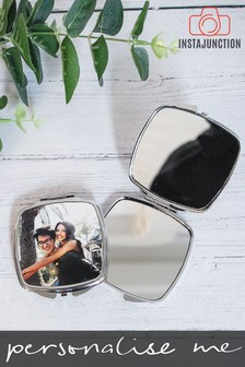 Personalised Photo Upload Compact Mirror by Instajunction