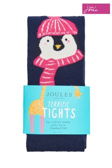 Joules Blue Christmas Anikins Novelty Tights