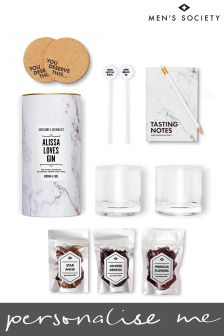 Personalised Gin Lovers Accessory And Tasting Kit by Mens Society