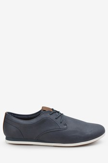 Derby Wedge Shoe