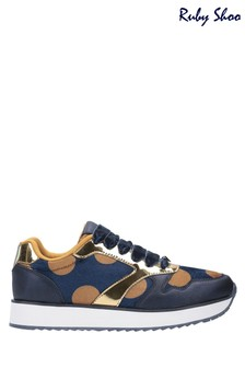 Ruby Shoo Blue Suzie Lace-Up Trainers
