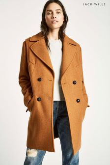 Jack Wills Ginger Henley Wool Blend Coat