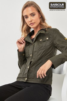 Barbour® International Khaki Pitch Waxed Denim Jacket