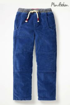 Boden Blue Lined Cord Pull-On Trouser
