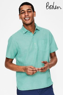 Boden Green Linen Cotton Popover