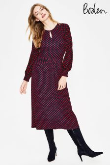 Boden Navy Eliza Jersey Dress
