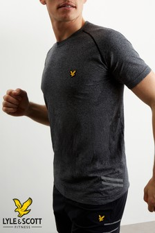 Lyle & Scott Sport Black Marl Seamless Run Midlayer