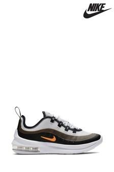 Nike White/Orange Air Max Axis Junior