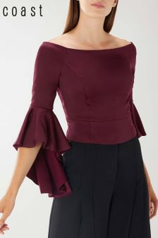 Coast Burgundy Baybell Top