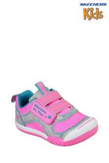 Skechers® Grey/Pink Flex Play Trainer