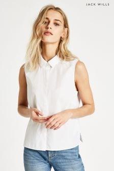 Jack Wills Vintage White Linden Sleeveless Shirt