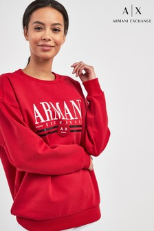 Armani Exchange Red Logo Sweatshirt
