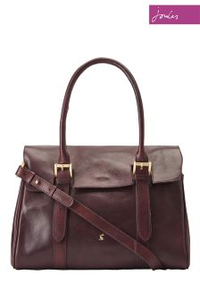 Joules Brown Leather Tote Bag
