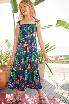 Tropical Printed Maxi Dress (3-16yrs)
