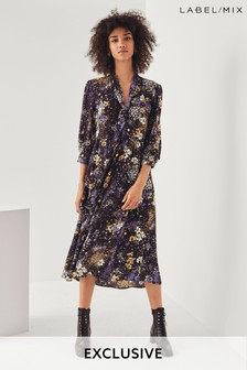 Mix/Teija Floral Print Dress