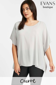 Evans Grey Hot Fix Cape Top