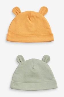 2 Pack Beanie Hats (0-18mths)