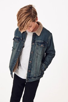 Denim Borg Lined Jacket (3-16yrs)