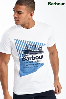 Barbour® White Vessel Graphic T-Shirt