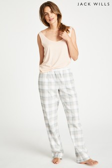 Jack Wills Grey Marl Cassie Checked Lounge Pant