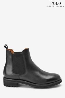 Polo Ralph Lauren Black Leather Bryson Chelsea Boots