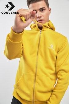 Sweat à capuche Converse jaune avec logo