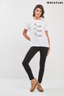 Whistles Skinny-Jeans, schwarz