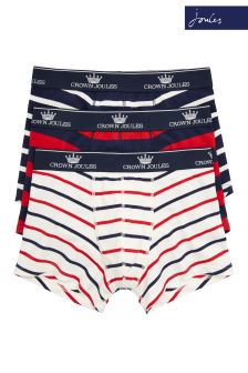 Joules Red Printed Boxer Three Pack