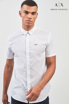 Armani Exchange White Textured Shirt