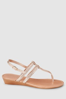 Forever Comfort® Low Wedges With Toe Post