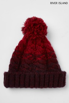 River Island Ombre Beanie Hat